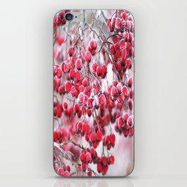 Icy Rowan Red Berries Winter Scene #decor #society6 #buyart iPhone Skin