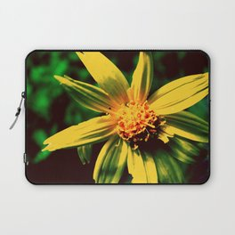 Vintage Yellow Flower Laptop Sleeve