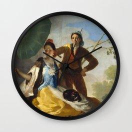 Francisco Goya - The Parasol - El Quitasol Wall Clock