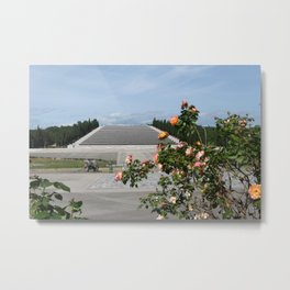Redipuglia, Italy: Military shrine. It contains the remains of over 100.000 Italian soldiers fallen during the First World War. Friuli Venezia Giulia. Sunny spring afternoon day. Metal Print