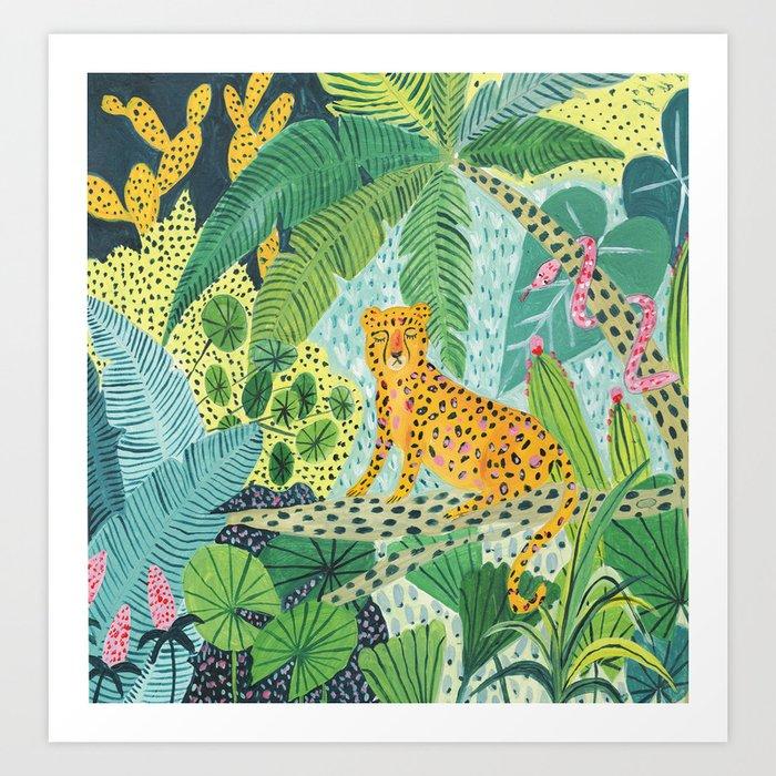 Jungle Leopard Art Print By Amberstextiles Society6