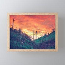 Powerlines / Austria Framed Mini Art Print