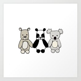 Bear Friends Art Print