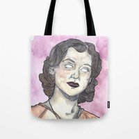oitnb Tote Bags featuring Morello OITNB by Ashley Rowe