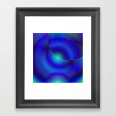 Blue and green abstract Framed Art Print