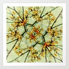 Floral Motif Print Pattern Collage Art Print