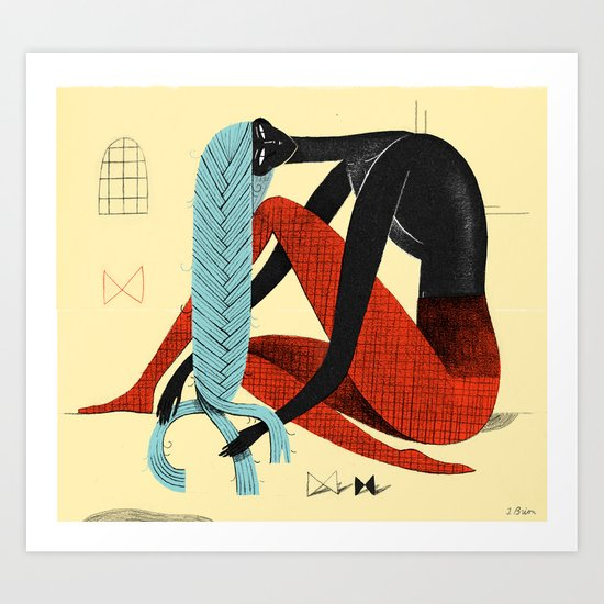 Braid 1 Art Print
