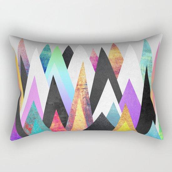 Colorful Peaks Rectangular Pillow