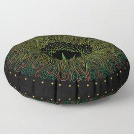 Magic plant. Marijuana leaf. mandala Floor Pillow