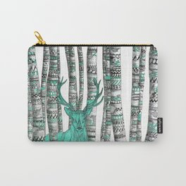 Turquoise Stag Carry-All Pouch