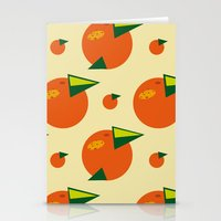 orange pattern Stationery Cards featuring orange pattern by Avrora-slip