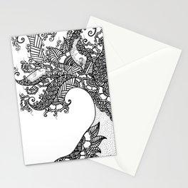 Zen Tree Rebirth White Left Half Stationery Cards