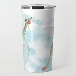 Dragon Flight at Day Break Travel Mug