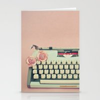 letter Stationery Cards featuring Love Letter by Cassia Beck