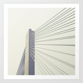 cable-stayed bridge Art Print