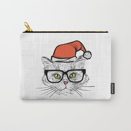 Santa Cat Carry-All Pouch