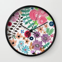 Forest of Flowers 2 Wall Clock