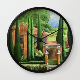 Villa of Lago d' Como Wall Clock