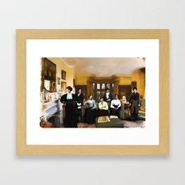 Seven Women Framed Art Print