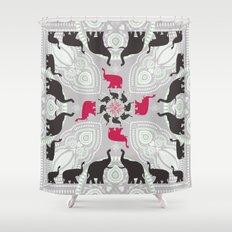 Newport Elephants Shower Curtain
