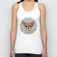 chihuahua Tank Tops featuring Chihuahua by lllg