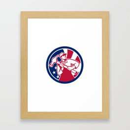American Handyman USA Flag Icon Framed Art Print