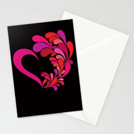 Colored heart Stationery Cards