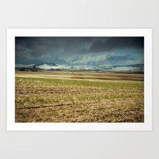 Winter's First Glance Art Print