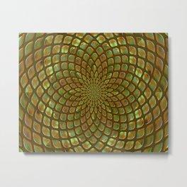 Golden Nugget Kaleidoscope Metal Print