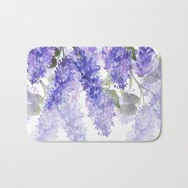 Purple Wisteria Flowers Bath Mat