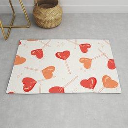 Heart Lollipops - Peach Palette Rug