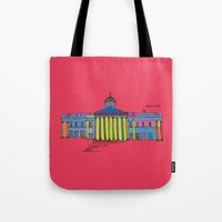 the national Tote Bags featuring National gallery by PINT GRAPHICS
