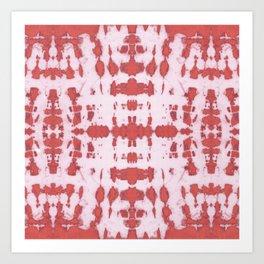 Kumo Shibori Coral Art Print