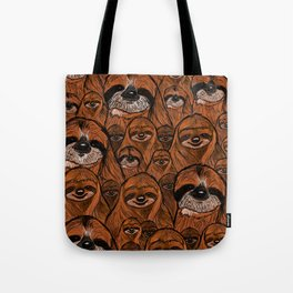 Mountains and mountains of sloths. Tote Bag