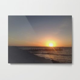There goes the sun. Metal Print
