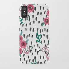 Rose. Illustration, pattern, print, floral design, art, painting, flowers, flower, Slim Case iPhone X