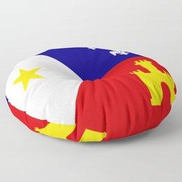 Acadiana Flag Floor Pillow
