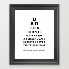 Fathers Day Gift - Eye Test Framed Art Print