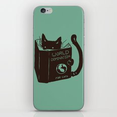 World Domination for Cats (Green) iPhone Skin