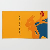 charizard Area & Throw Rugs featuring 006 Charizard by AuroraDrops