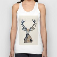 stag Tank Tops featuring Stag by The Art Hutch
