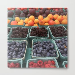 Fruit Stand Union Square Metal Print