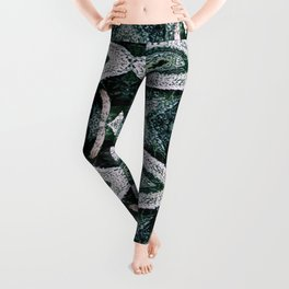 Air Plant Green Pattern Leggings
