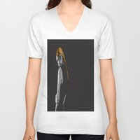 lonely V-neck T-shirts featuring Lonely by dunstanvassar