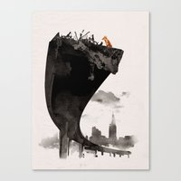 last of us Canvas Prints featuring The Last of Us by Robert Farkas