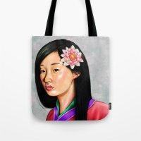 mulan Tote Bags featuring mulan by Anja-Catharina