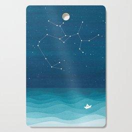 Sagittarius zodiac constellation Cutting Board