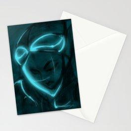 Alien girl Stationery Cards