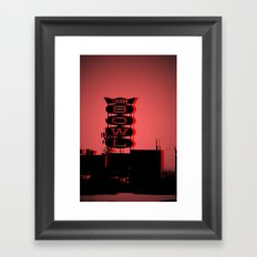 Tucson Bowl (red) Framed Art Print
