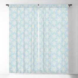 fiocchi di neve blu Blackout Curtain